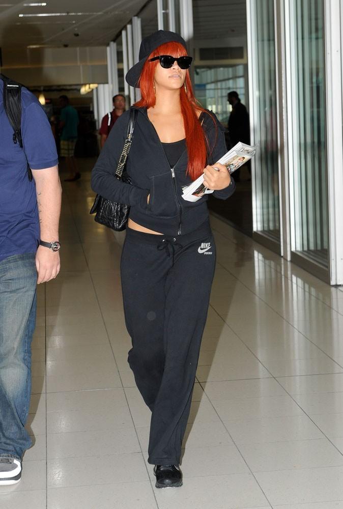 Photos : pas de chichi, à l'aéroport, c'est jogging obligatoire !