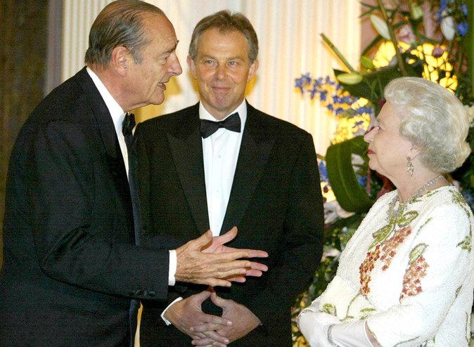 Avec Jacques Chirac et Tony Blair