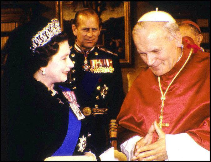 Avec le pape Jean-Paul II