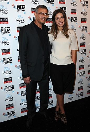 Abdellatif Kechiche et Adèle Exarchopoulos à Londres le 14 octobre 2013