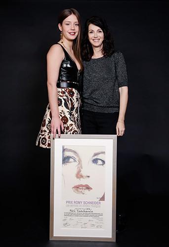 Adèle Exarchopoulos et Zabou Breitman à Paris le 7 avril 2014