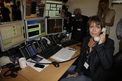 Carole Rousseau lève des fonds en hommage aux victimes des attentats du 11/09, à Paris le 11 septembre 2014