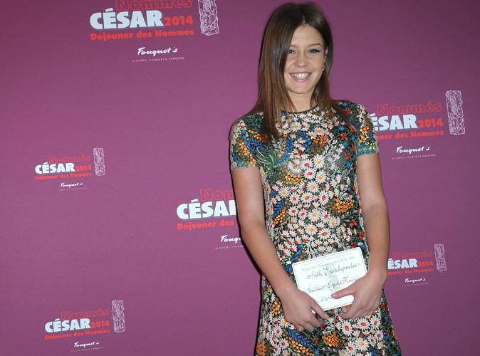 Adèle Exarchopoulos rayonnante, Julie Gayet absente au déjeuner des nommés aux César 2014 !