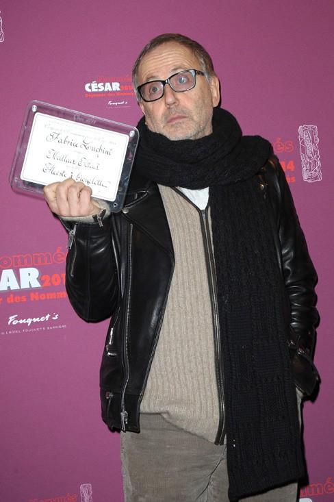 Fabrice Luchini au déjeuner des nommés aux César organisé au Fouquet's le 8 février 2014