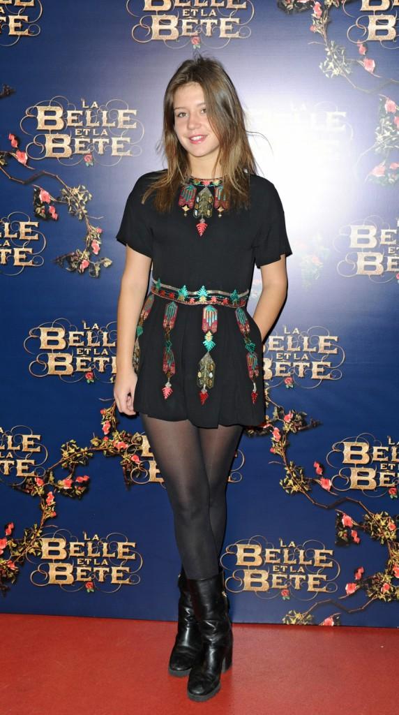 Adèle Exarchopoulos lors de l'avant-première du film La Belle et La Bête à Paris, le 9 février 2014.