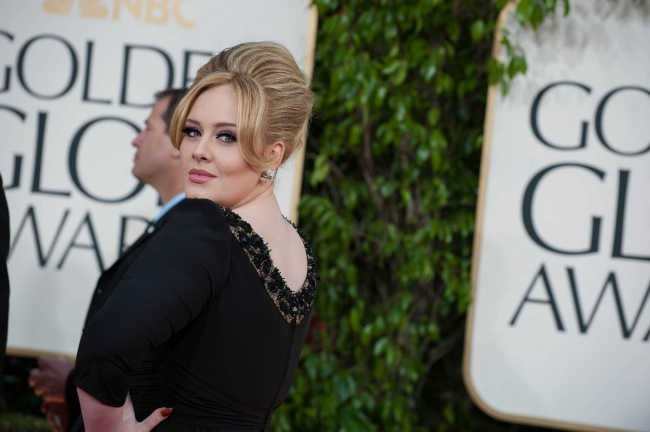 Adele le 13 janvier 2013 à Los Angeles