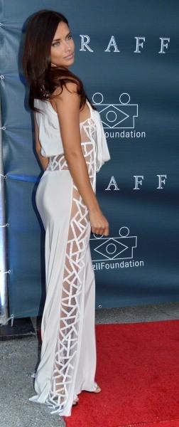 Adriana Lima lors du gala de la Fondation du Brésil à Miami, le 26 mars 2013.