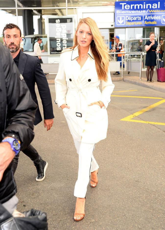 Blake Lively à l'aéroport de Nice le 9 mai 2016