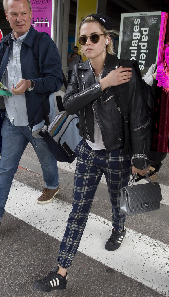 Kristen Stewart à l'aéroport de Nice le 9 mai 2016