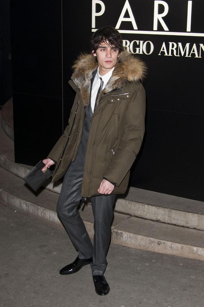 Alain-Fabien Delon au défilé haute-couture Giorgio Armani organisé au Palais de Tokyo le 21 janvier 2014