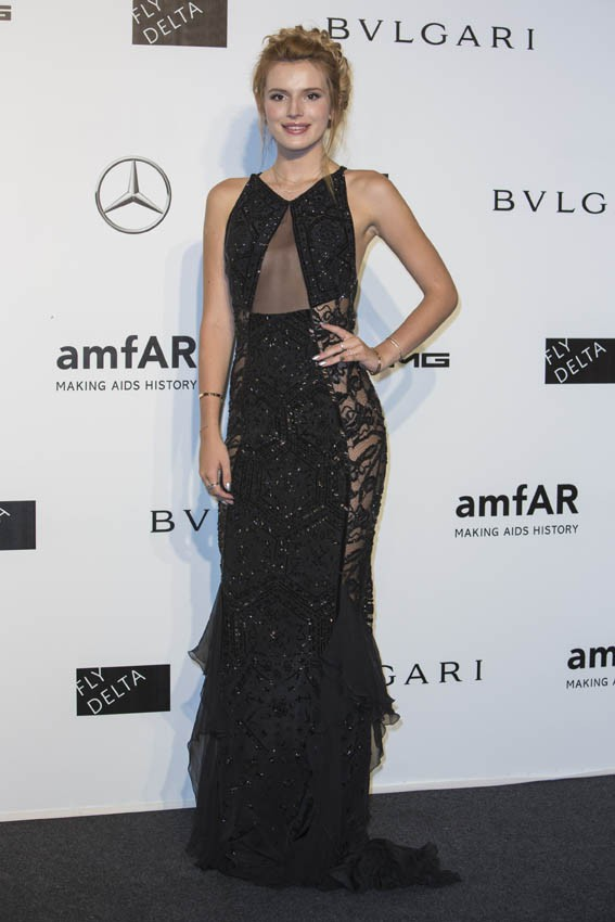 Bella Thorne au gala de l'AmfAR organisé à Milan le 20 septembre 2014