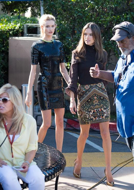 Alessandra Ambrosio et Behati Prinsloo à Los Angeles le 8 décembre 2014