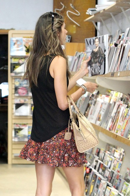 Alessandra Ambrosio, Los Angeles, 5 septembre 2012.