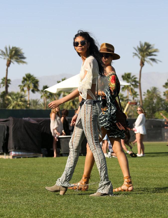Photos : Chanel Iman : déferlante de tops à Coachella !