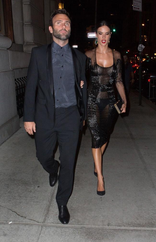 Alessandra Ambrosio et Jamie Mazur à New-York le 5 septembre 2014