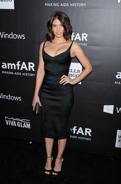 Lauren Cohan (The Walking Dead) au gala de l'AmfAR, le 29 octobre 2014 à Los Angeles