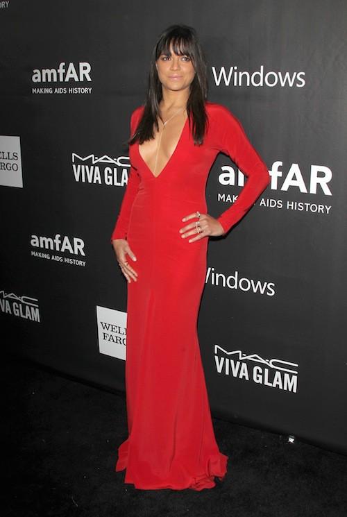 Michelle Rodriguez au gala de l'AmfAR, le 29 octobre 2014 à Los Angeles