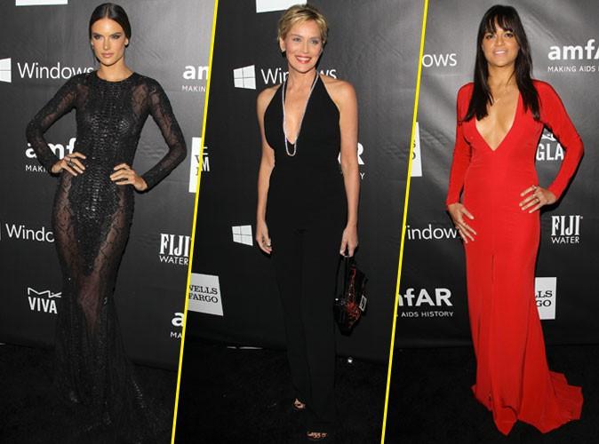 Photos : Alessandra Ambrosio, Sharon Stone, Michelle Rodriguez : femmes fatales au gala de l'AmfAR !