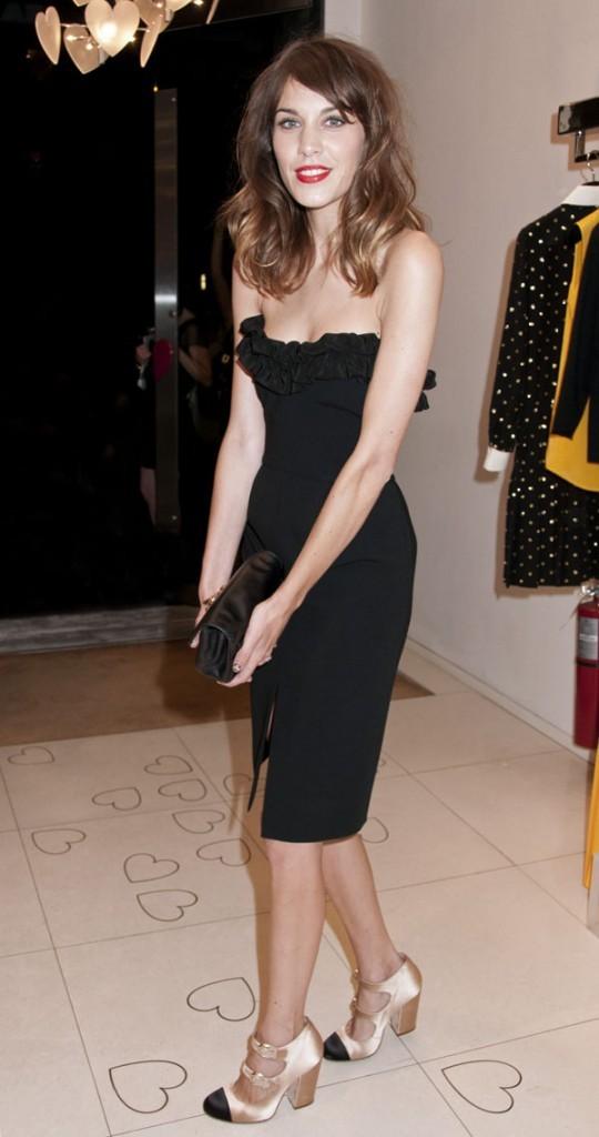 Alexa Chung lors de la Vogue Fashion Night Out le 6 septembre 2012 à New York