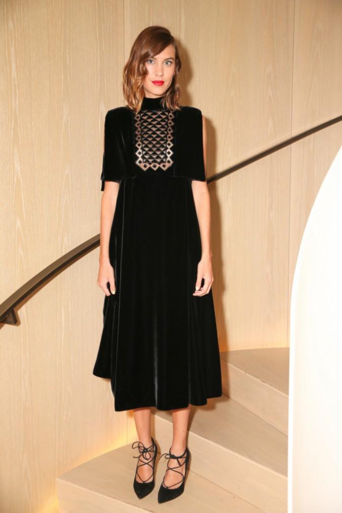 Alexa Chung à New York le 10 septembre 2015