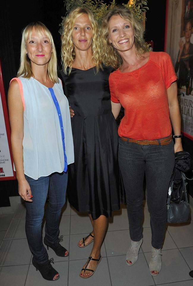 Alexandra Lamy, Sandrine Kiberlain et Audrey Lamy le 27 août 2012 à Angoulême