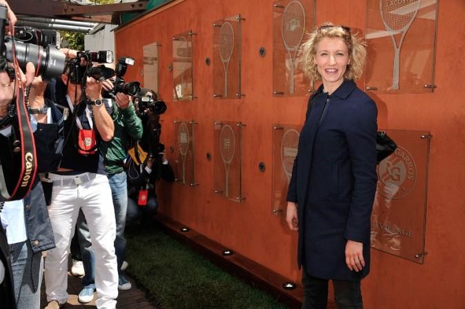 Alexandra Lamy à Roland Garros, le 2 juin 2013