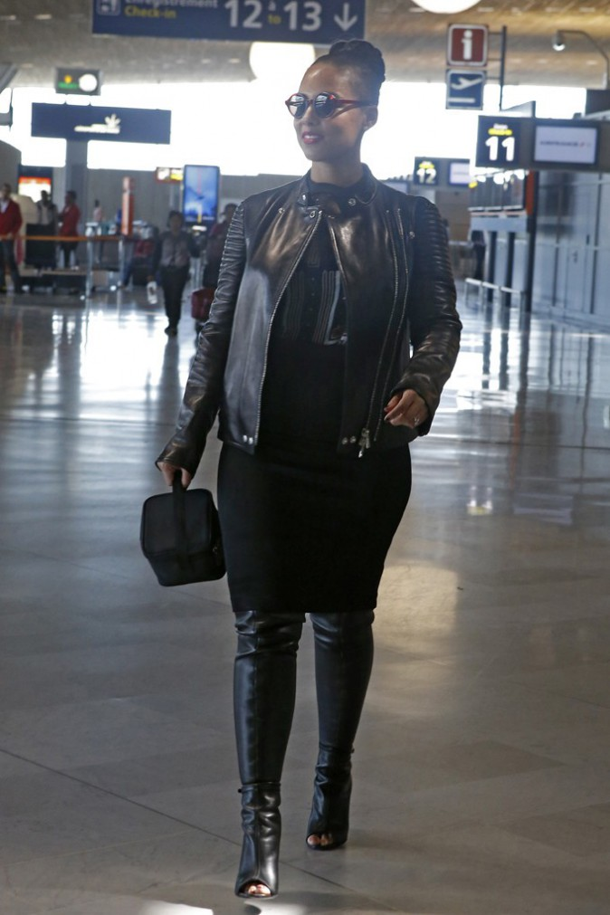 Alicia Keys quitte Paris le 14 avril 2015