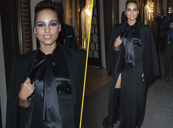 Alicia Keys : �g�rie Givenchy radieuse � Paris !