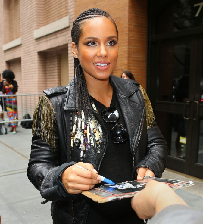 Alicia Keys à New York le 29 septembre 2014