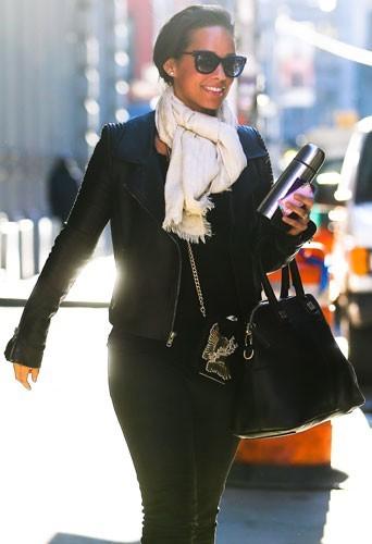 Alicia Keys en séance shopping dans les rues de New York