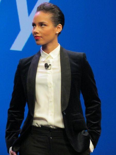 Alicia Keys lors d'un événement BlackBerry à New York, le 30 janvier 2013.