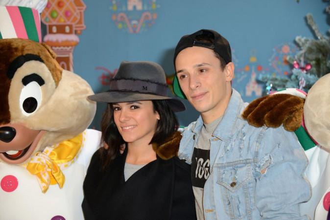 Alizée et Grégoire Lyonnet à Disneyland Paris le 15 novembre 2014