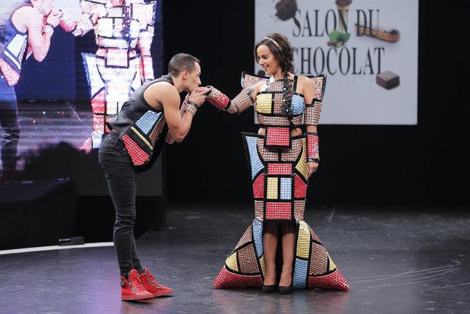 Alizée et Grégoire Lyonnet au Salon du Chocolat 2015 à Paris, le 27 Octobre 2015.