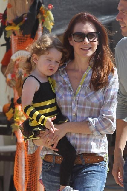 Alyson Hannigan et sa petite Satyana !