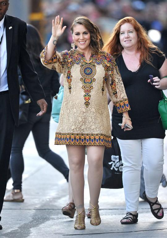 Alyssa Milano au Jimmy Kimmel Live le 3 juin 2014