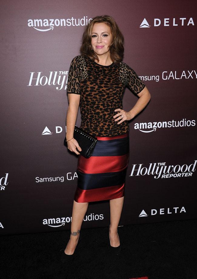 Alyssa Milano à Los Angeles le 6 novembre 2013