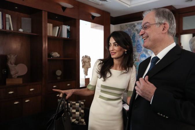 Amal Alamuddin à Athènes le 14 octobre 2014