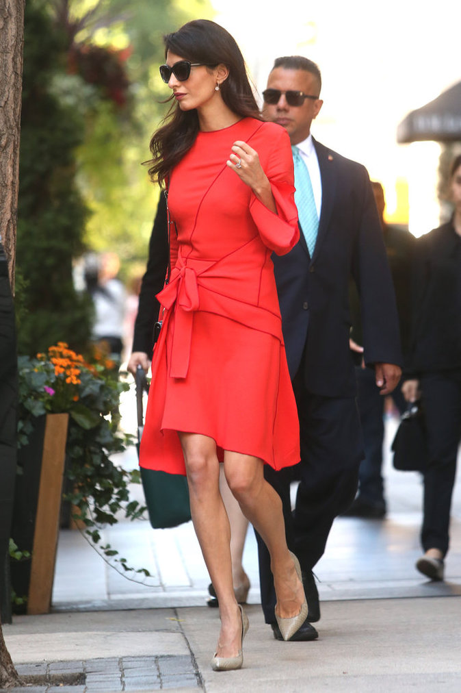 Amal Clooney à New York, le 22 septembre 2016