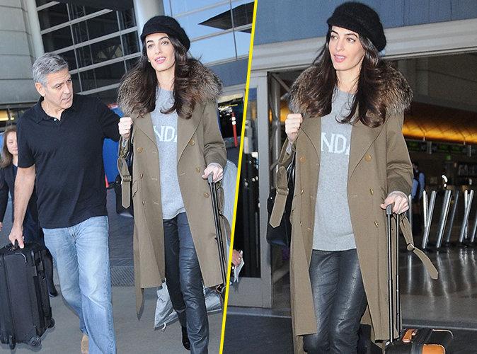 Amal Clooney : Un pull ample... pour cacher son baby-bump ?
