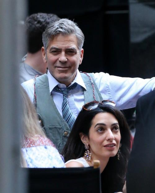 Photos : Amal et George Clooney amoureux et complices avec Julia Roberts !