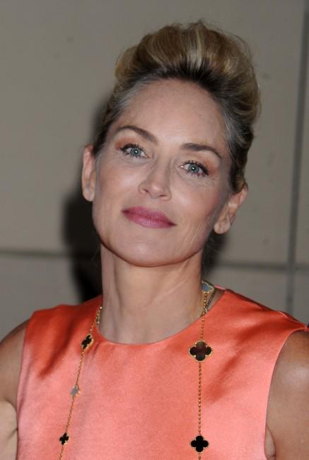 """Sharon Stone lors de la conférence de presse du film """"Lovelace"""" à New York, le 30 juillet 2013."""