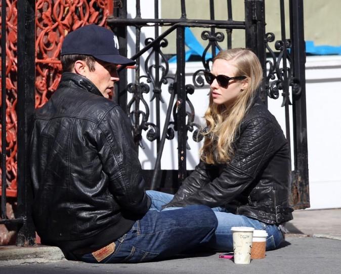 Amanda Seyfried et Desmond Harrington à New-York le 17 octobre 2012