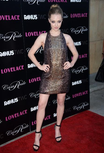 Amanda Seyfried lors de la première du film Lovelace à Hollywood, le 5 août 2013.