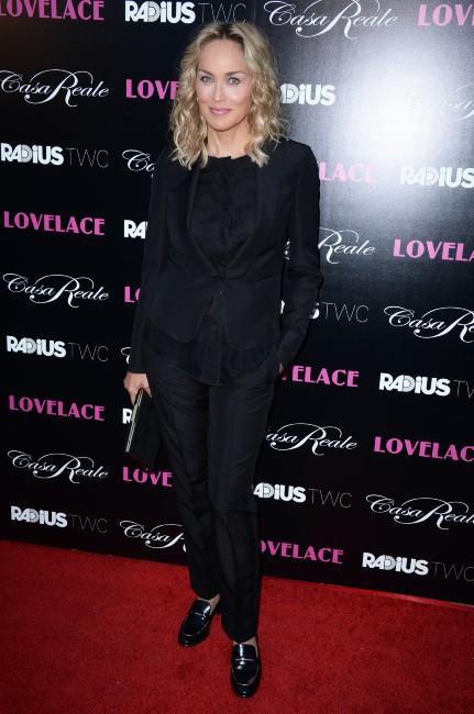 Sharon Stone lors de la première du film Lovelace à Hollywood, le 5 août 2013.