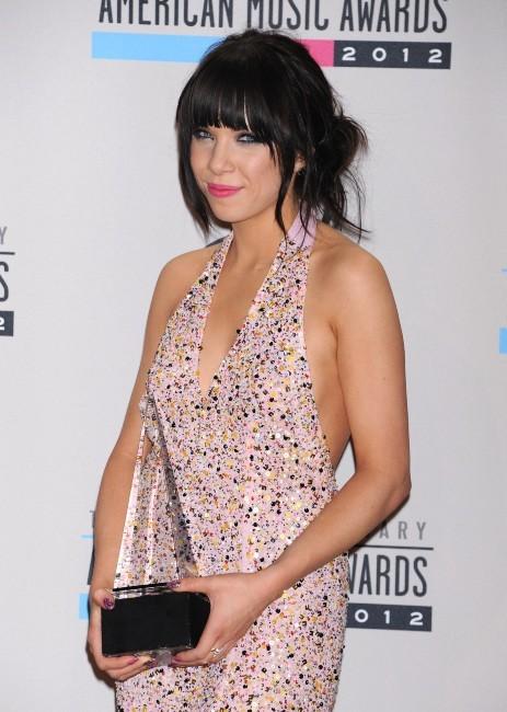 Carly Rae Jepsen lors des American Music Awards 2012 à Los Angeles, le 18 novembre 2012.
