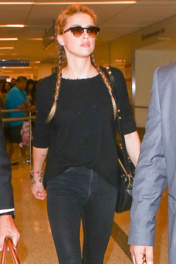 Amber Heard à l'aéroport de Los Angeles le 12 août 2016