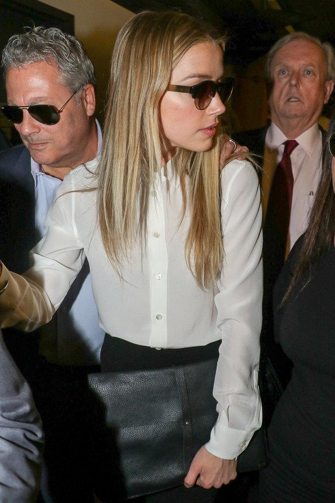 Amber Heard à son arrivée au tribunal à Los Angeles le 13 août 2016
