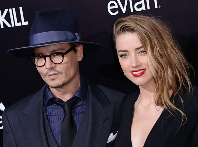 Johnny Depp et Amber Heard à Los Angeles le 12 février 2014
