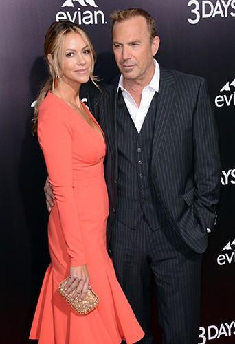 Kevin Costner et Christine Baumgartner à Los Angeles le 12 février 2014