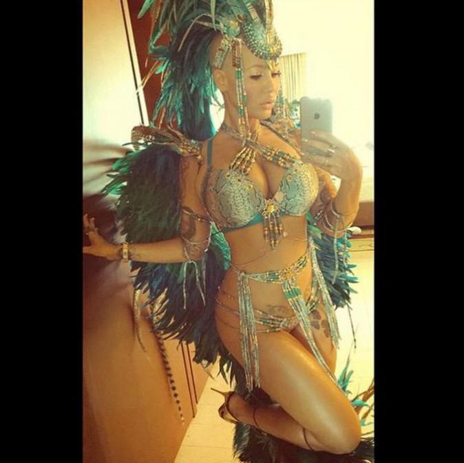 Amber Rose au carnaval de Trinité-et-Tobago